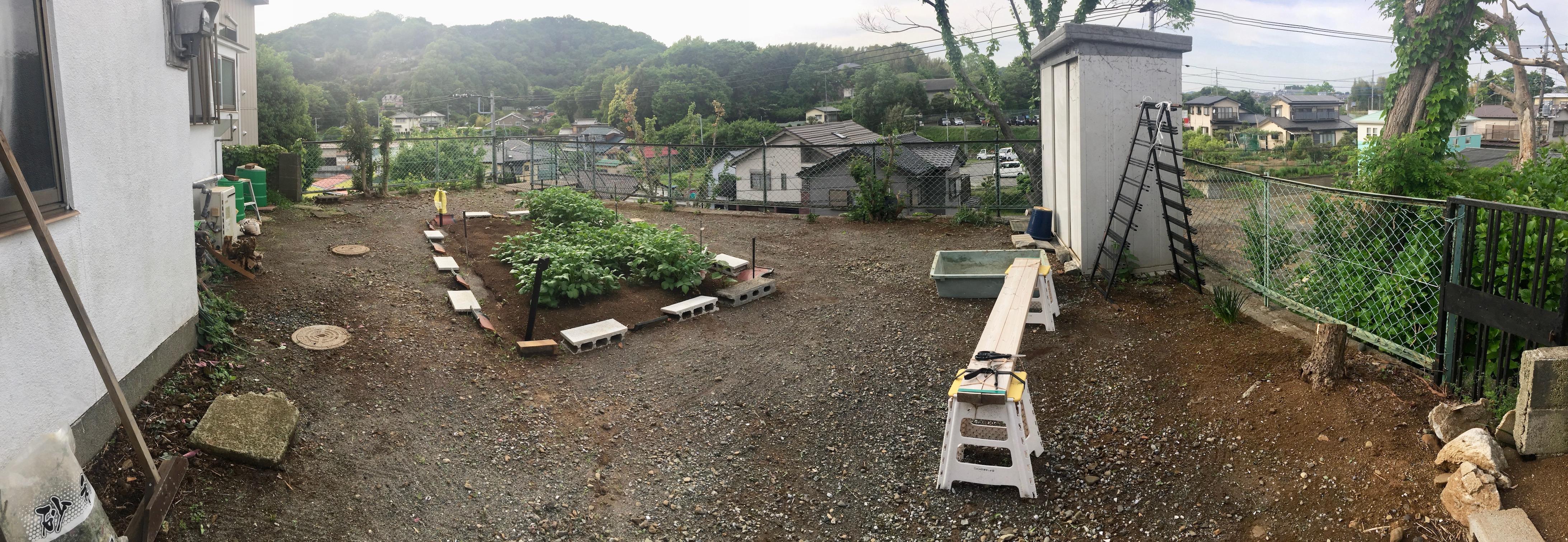 庭の整備後の様子